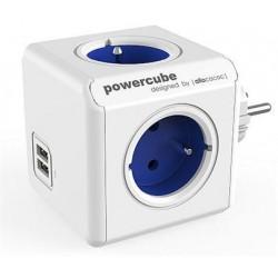 Zásuvka PowerCube ORIGINAL USB, Blue, 4 rozbočka, 2x USB