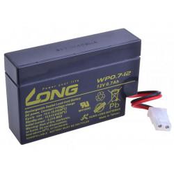 Long 12V 0,7Ah olověný akumulátor AMP