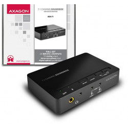 AXAGON SOUNDbox USB real 7.1 audio adapter, SPDIF