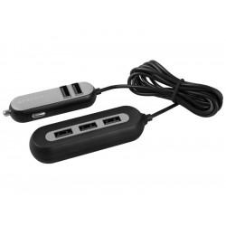 AVACOM CarHUB nabíječka do auta 5x USB výstup, černá
