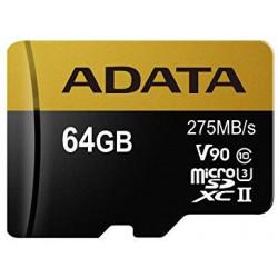 ADATA 64GB MicroSDXC UHS-I U3 s adapterem
