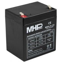 Pb akumulátor MHPower VRLA AGM 12V/4,5Ah (MS4.5-12