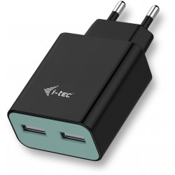 i-tec USB Power Charger 2 Port 2.4A Black