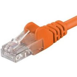 Patch kabel UTP RJ45-RJ45 level 5e 0.5m, oranžová