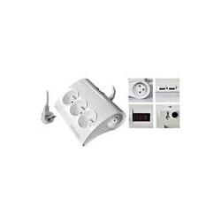 PremiumCord Prodlužovací přívod 230V 1,5m 5zásuvek+vypínač+2x USB