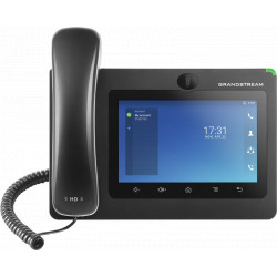 "Grandstream GXV3370, 7""TFT bar.dotyk.displ., android 7, 6SIP účt, 6prog. tl.,WiFi,BT,USB, audiokonf."
