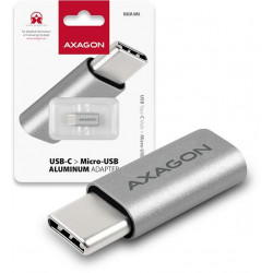 AXAGON RUCM-MFA, USB Type-C Male Micro USB Female ALU redukce