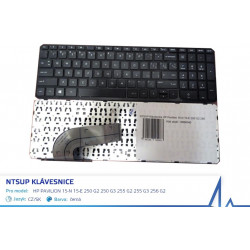 NTSUP Klávesnice HP Pavilion 15-N 15-E 250 G2 250 G3 255 G2 255 G3 256 G2 černá CZ/SK