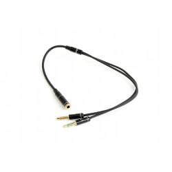 GEMBIRD 3.5 mm stereo jack 4-pin, redukce , 20 cm, 2xF/M