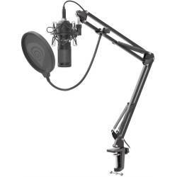 Streamovací mikrofon Genesis Radium 400, USB, kardioidní polarizace, ohybné rameno, pop-filter