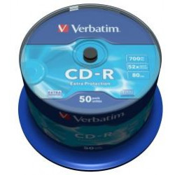 VERBATIM CD-R(50-Pack)Spindl/52x/700MB