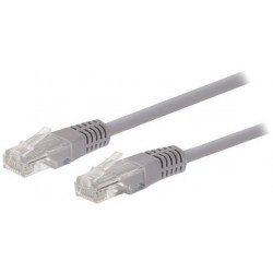 Kabel C-TECH patchcord Cat5e, UTP, šedý, 3m