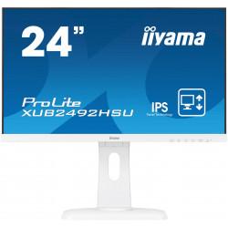"24"" LCD iiyama XUB2492HSU-W1 - IPS,4ms,250cd/m2, 1000:1,16:9,VGA,HDMI,DP,USB,repro,výškov.nas.,pivot"