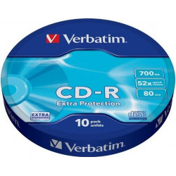 VERBATIM CD-R Verbatim DL 700MB 52x Extra protection 10-spindl RETAIL