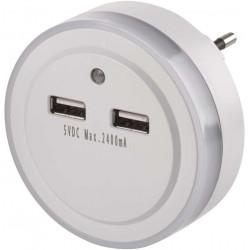 EMOS Noční světlo s 2 x USB + fotosenzor (P3313)