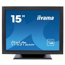 "15"" iiyama T1531SAW-B5 - TN,1024x768,8ms,370cd/m2, 700:1,4:3,VGA,HDMI,DP,USB,repro."