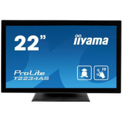 "22""iiyama  T2234AS-B1: IPS, Full HD, 350cd/m2, HDMI, USB, černý"
