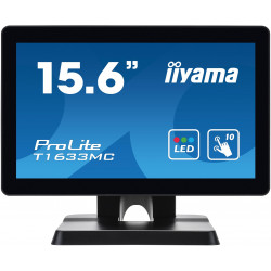 "16"" iiyama T1633MC-B1: TN, HD, capacitive, 10P, 300cd/m2, VGA, DP, HDMI, USB, černý"