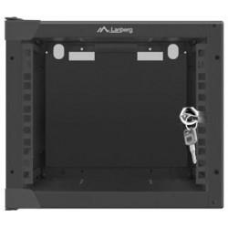 Nástěnný rack 10'' 4U 280x310mm černý flat pack