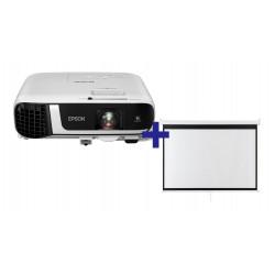 3LCD EPSON EB-FH52, 4000 Ansi, FullHD,16:9 + plátno zdarma