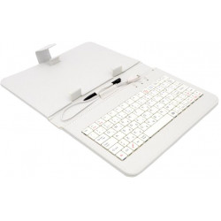 "AIREN AiTab Leather Case 1 with USB Keyboard 7"" WHITE (CZ/SK/DE/UK/US.. layout)"