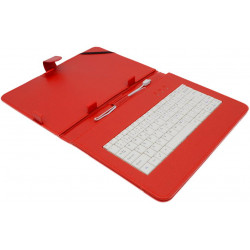 "AIREN AiTab Leather Case 4 with USB Keyboard 10"" RED (CZ/SK/DE/UK/US.. layout)"