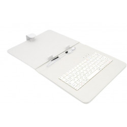 "AIREN AiTab Leather Case 3 with USB Keyboard 9,7"" WHITE (CZ/SK/DE/UK/US.. layout)"