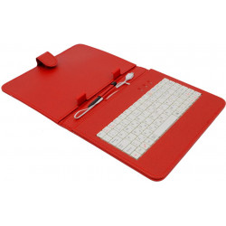 """AIREN AiTab Leather Case 2 with USB Keyboard 8"""" RED (CZ/SK/DE/UK/US.. layout)"""