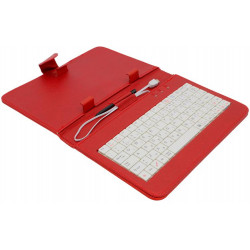 "AIREN AiTab Leather Case 1 with USB Keyboard 7"" RED (CZ/SK/DE/UK/US.. layout)"
