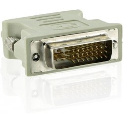 4World Adaptér DVI-I 24M - VGA 15F Gray