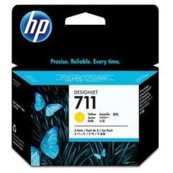 HP no 711 - žlutá ink. kazeta - 3 pack, CZ136A