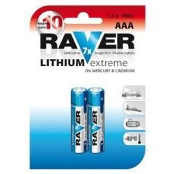 Lithiová baterie RAVER 2x AAA