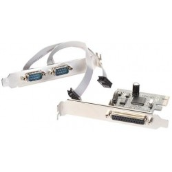 i-tec PCIe 2x serial, 1x parallel card+low profile