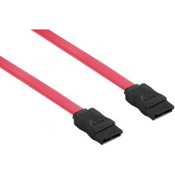 4World Kabel SATA M/M 7pin 100cm Red