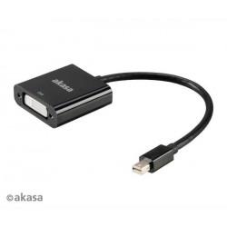AKASA - adaptér miniDP na DVI - 20 cm
