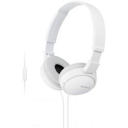 SONY sluchátka MDR-ZX110AP handsfree, bílé
