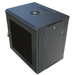 """Datacom 19"""" rozvaděč 9U/450 mm (sklo) černý"""