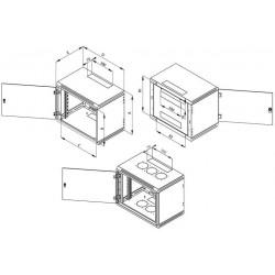 Nástěnný rozvaděč jednodílný 9U (š)600x(h)595