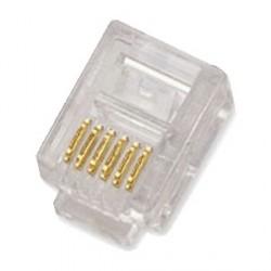 Konektor RJ12 6p6c bal.100ks
