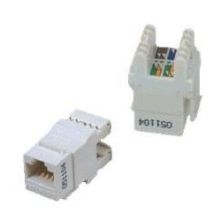 DATACOM UTP Keystone Cat6 bílý Dual Slim zadní zářez