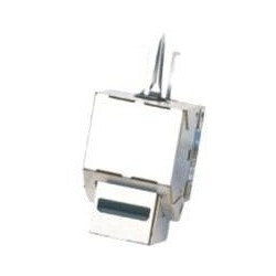 DATACOM Keystone cat5E silver STP dual-mini