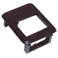 Rámeček pro keystone do modulár.patch panelu černý