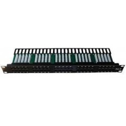 Patch panel ISDN 50p.1U Integrovaný BLACK, 19""