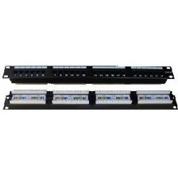 Patch panel 24p. CAT6 1U,4x6 LSA, UTP, 19""