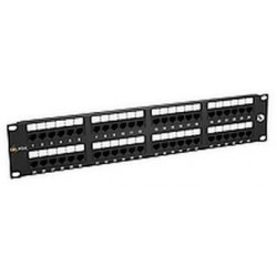 "19"" Patch panel Solarix 48 x RJ45 CAT5E UTP černý"