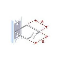 Vyvazovací háček 40x40 D1 kov levý fix,čelní gate