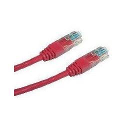 DATACOM patch cord UTP cat5e 0,25M červený