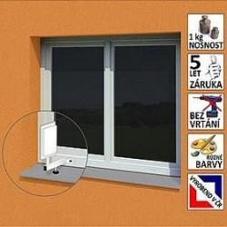 """Anténní držák malý na plastové okno """"L"""", délka 17,5 cm, výška 25 cm, ⌀20mm"""
