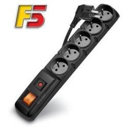Rozvodný panel ACAR F5/3m 5x220V černý+přep.ochr.