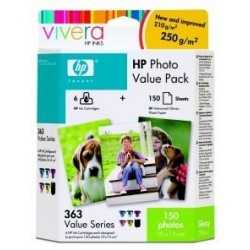 HP 363 - value photo pack, Q7966EE + 150 ks 10x15